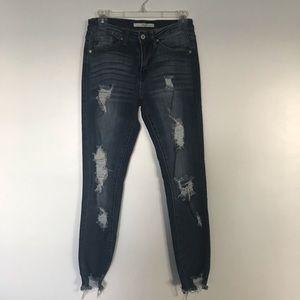 Kancan raw hem skinny jeans